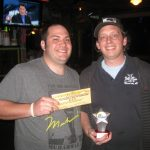 the winner of a trivia night at a bayside bar