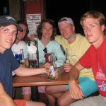 group of guys at trivia night at macky's