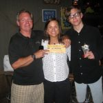 a family of trivia winners at Macky's