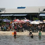 Kids Play on the Beach at Macky's Bayside restaurants OCMD